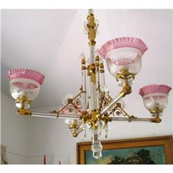 Osler 4 lights Chandelier Originally gas #2392523