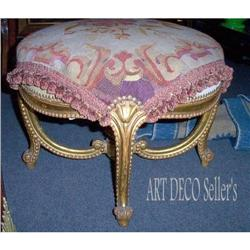 Gilt Victorian Bench with Early 19th C. #2392524