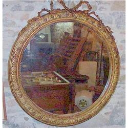 Large  French Luis XVI style carved Mirror gilt#2392525