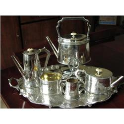 Elkington Tea & Coffe Set w/ Tray and Tilting #2392526