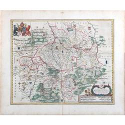 Antique Map Episcopatus Europe Dutch Blaeu 1647#2392532