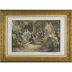 Recital by Paredes framed print classical #2392539
