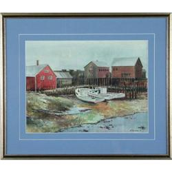 MacIssac watercolor fishing boats maritime #2392542