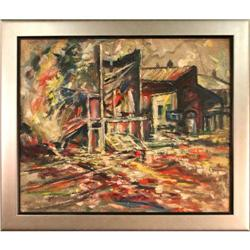 Town Scene abstract painting MacIsaac #2392545