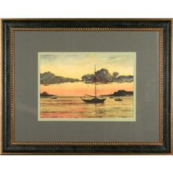 Anchor Sunset giclee print maritime MacIsaac #2392547