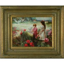 Girls Garden impressionist oil painting Raiden #2392548
