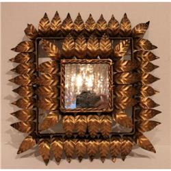 Gilded Spanish Mirrored Sconce #2392614