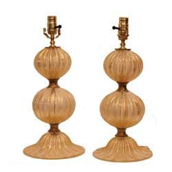 Pair of Italian Murano Glass Lamps #2392631