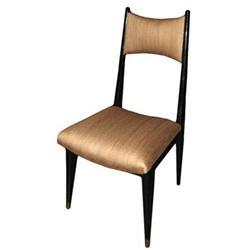 Set of Six Ebonized Dining Chairs #2392634