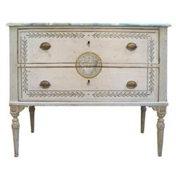 Pair of Hand Painted Italian Chests #2392645