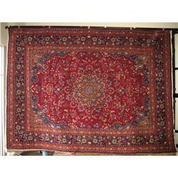 "13' X 9'8"" Mashad SIGNED Persian Oriental Rug #2392659"