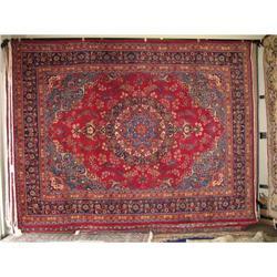 "12'10 X 9'8""  Sabzevar Persian Oriental Rug #2392661"