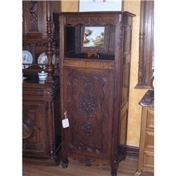 Louis XV  Bonnetiere/ Single Door Armoire #2392770