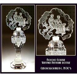 CZECH VINTAGE FIGURAL PERFUME BOTTLE / OPB017 #2392785