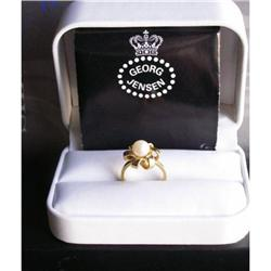 18kt Gold & Pearl Ring #2392791