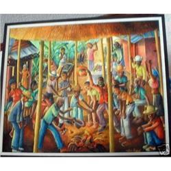 Haitian Painting, Wilson Bigaud,'62, Christie's#2392794