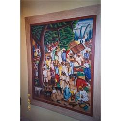 Haitian Painting by Castera Bazile,'52, #2392797