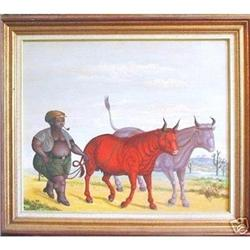Haitian Painting, St. Louis Blaise, MUSEUM! #2392798
