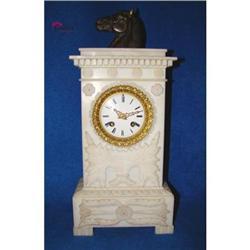 Dazzling Beautiful Alabaster Mantel Clock !! #2392805