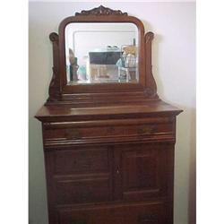 Antique Gentleman's Chest with Top Hat Cabinet #2392808