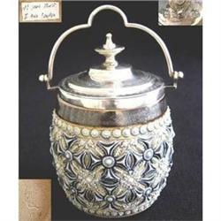 Doulton Lambeth Preserve Jar (C1881/Signed) #2392872