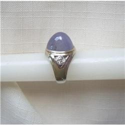 1930's~Star Sapphire/Dia.Ring ~Platinum ~20 Cts#2392886
