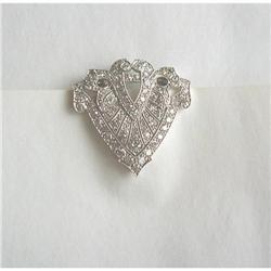 CIRCA 1920's~ GREAT DIAMOND & PLATINUM CLIP #2392900
