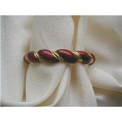 1960's RED ENAMEL & 18K Y GOLD   BANGLE #2392902