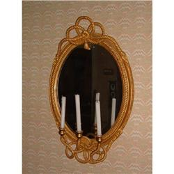 Pair of 19th century French gilt rope mirrors #2392909