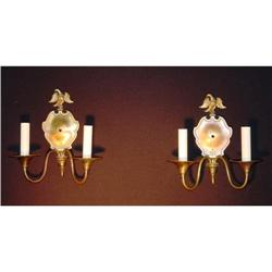 Two arm brass sconces #2393081