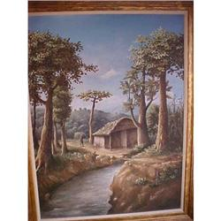 "Haitian Painting by Erns Jean Louis 30""x40"" #2393095"