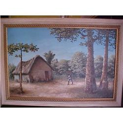 "Haitian Painting by Erns Jean Louis 20""x30"" #2393103"