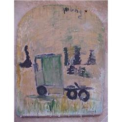Folk Art Painting by Purvis Young #2393104