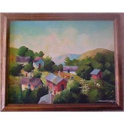 "Haitian Painting by Simeon Michel -16"" x 20"" #2393105"