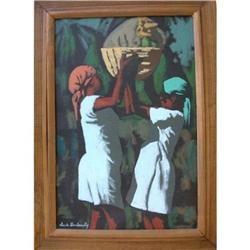 Haitian Painting in Oil on canvas by Claude #2393106
