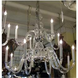 Two Tier Glass and Chrome Chandelier #2393113