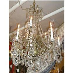 Maria Theresa Crystal and Bronze Chandelier #2393118