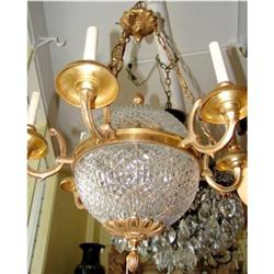 Crystal and Bronze Globe Chandelier #2393123