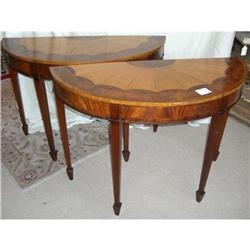Pair of Early Federal Style Console Tables #2393124