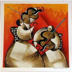 David Schluss, Whispering Violins, Canvas #2393130
