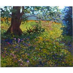 Anne Boysen, Wildflower Field, Signed Canvas #2393133