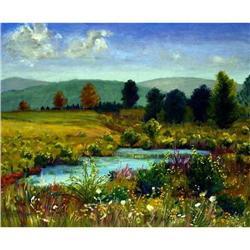 Anne Boysen, Pond at Herrick, Signed Canvas #2393134