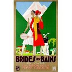 Original Rare Lithograph, Brides Les Bains, #2393137
