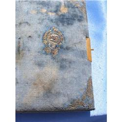 IMPERIAL RUSSIAN MANUSCRIPT POETRY NOTE BOOK  #2393142