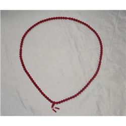 Genuine Natural Coral Beads 108 Prayer Chain  #2393144