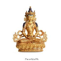 Figure Of Tibetan APARMITA (Amitayus) Gold #2393145