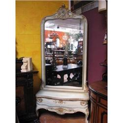 Italian Painted Console standing entry miror #2393152