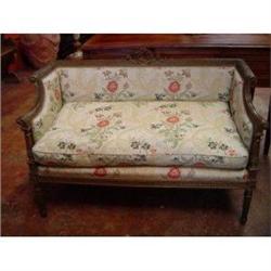 Italian Luigi XVI settee, couch and 2 arms #2393155