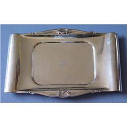Large 19c  Continental Silver Serving Tray #2393376