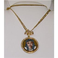 19c Egyptian Revival Mosaic Diamond Pendant #2393378